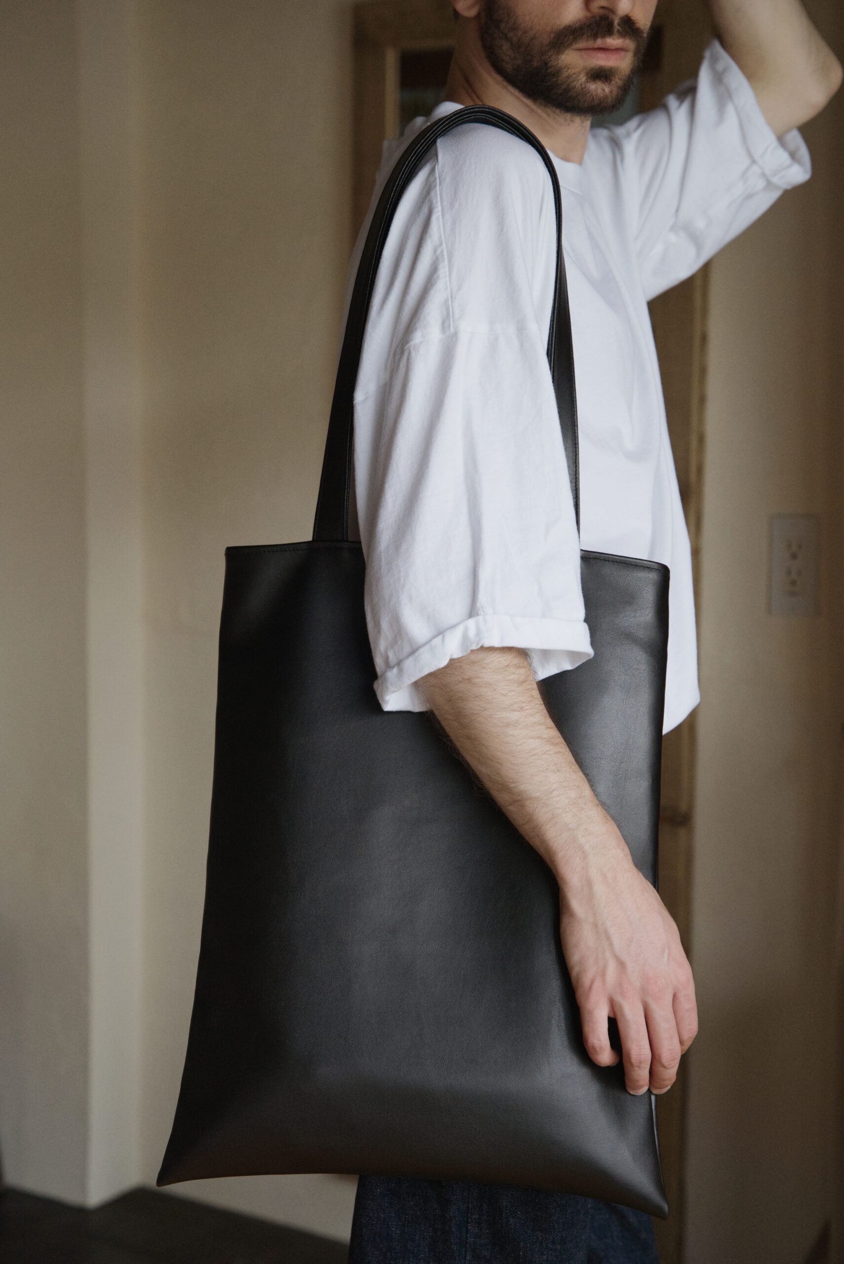 offsait - VOID Tote Bag with Cactus Leather Lookbook